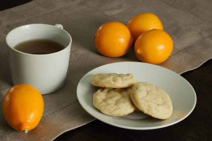 Chewy Meyer Lemon cookies 1