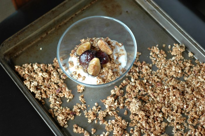 Homade Granola with Honey Roasted Figs over Greek Yogurt (1 of 1)-6