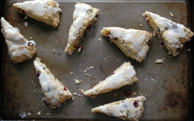 Meyer Lemon and Cranberry Scones-11