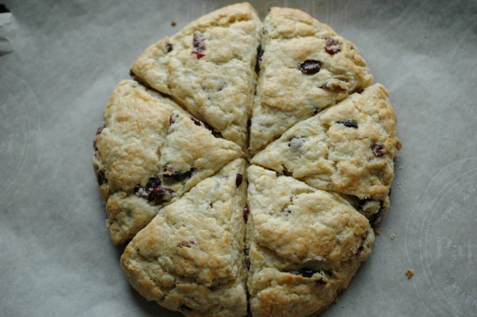 Meyer Lemon and Cranberry Scones-7