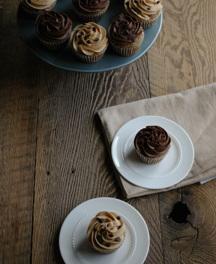1 -Banana Chocolate Chip Cupcakes with Peanut Butter or Chocolate Frosting (2)