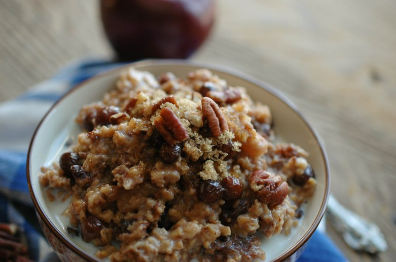 Overnight Apple Cinnamon Oatmeal-9