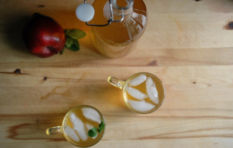 Apple Mint Green Iced Tea-5