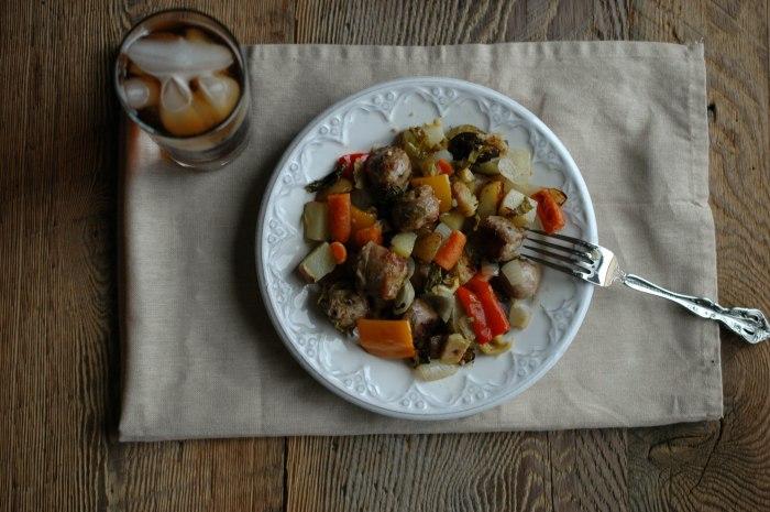 Sausage and Veggie Bake - Gluten Free-7