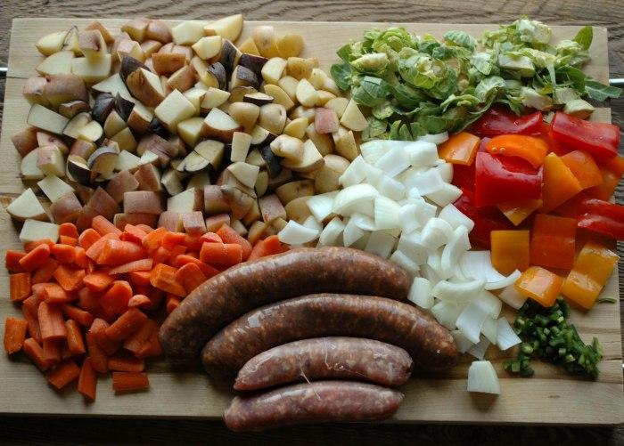 Sausage and Veggie Bake - Gluten Free