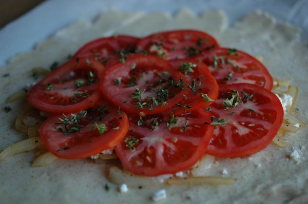 Gluten Free Goat Cheese and Tomato Galette-6