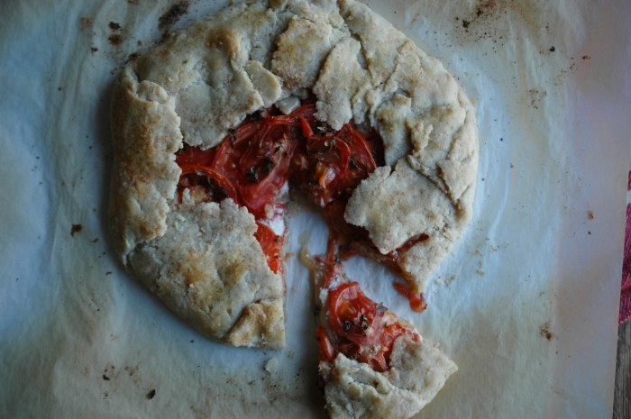 Gluten Free Goat Cheese and Tomato Galette-8