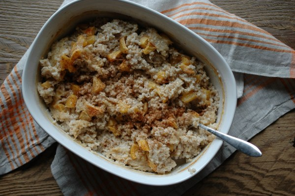 Baked Steel-Cut Oats - With Peaches-4
