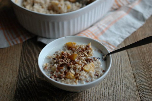Baked Steel-Cut Oats - With Peaches-5