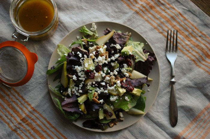 Avocado-Pear Salad with Italian Dressing-4