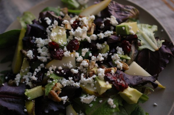 Avocado-Pear Salad with Italian Dressing-5
