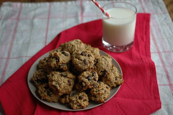 Peanut Butter Banana Oatmeal Raisins Cookies-6