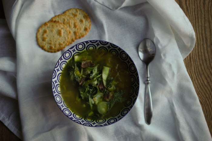potato leek and spinach soup-5