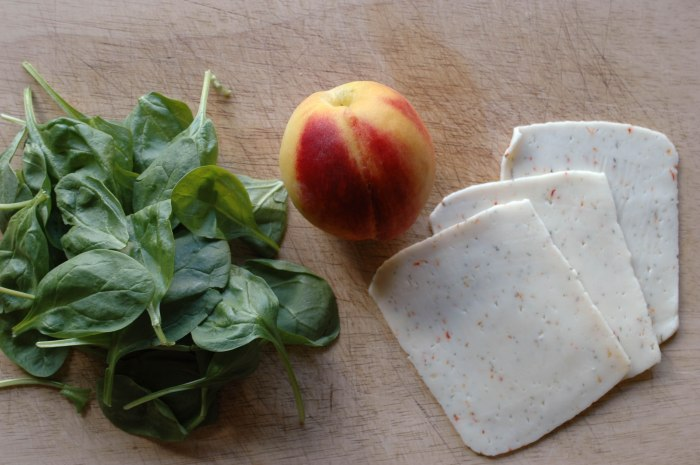 Peach and Basil Quesadillas_-2