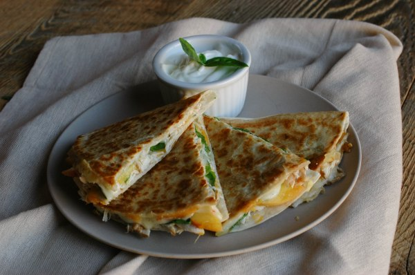 Peach and Basil Quesadillas_-7