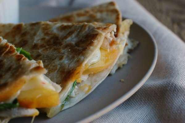 Peach and Basil Quesadillas_-8