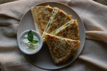 Peach and Basil Quesadillas_-9