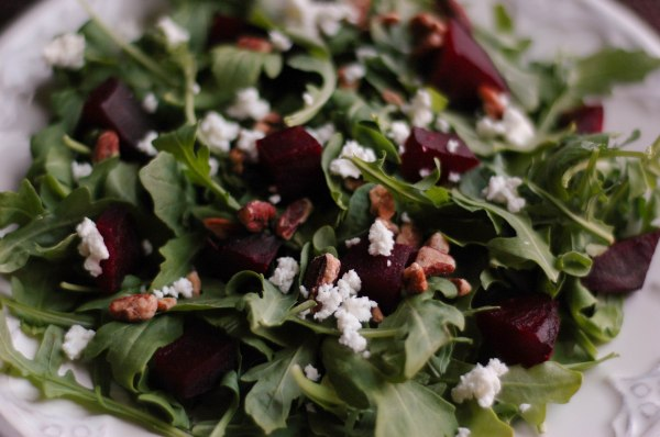 beet arugala goat cheese salad-4